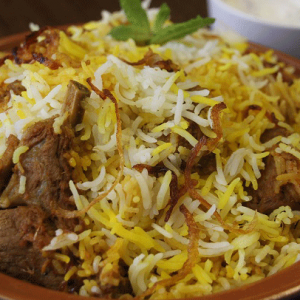 Lamb fry piece Biryani