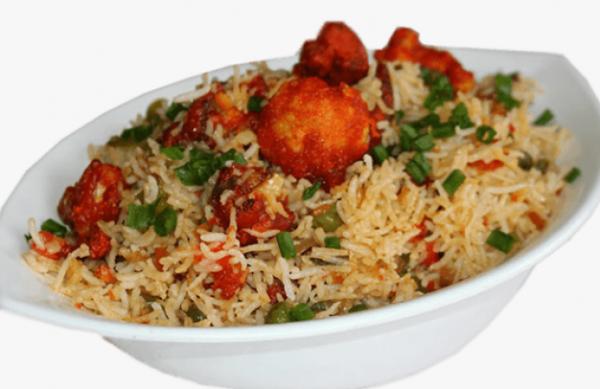 Veg Manchurian Fried Rice